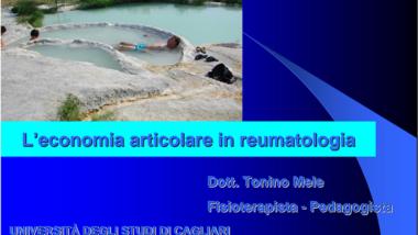 L'economia articolare in reumatologia