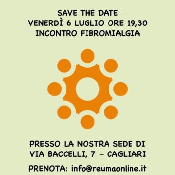 Venerdì 6 luglio incontro sulla fibromialgìa